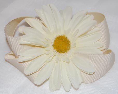Flower Bow - Light Ivory