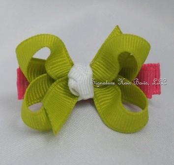 Lime Sorbet Baby Bow