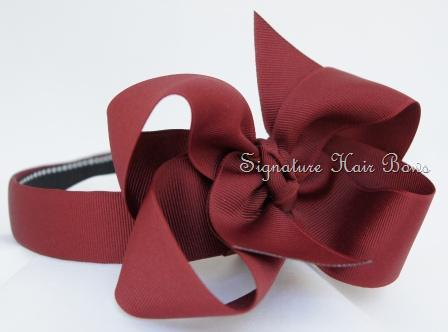 School Uniform Headband - Burgundy