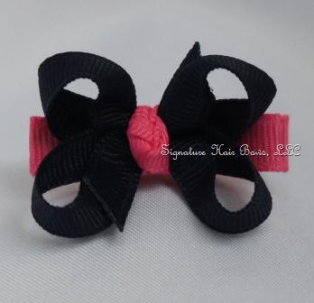 Sweet Classic Navy Baby Bow