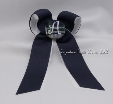 School Uniform Bow with Tails - Navy