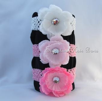 Crochet Headband with Peony