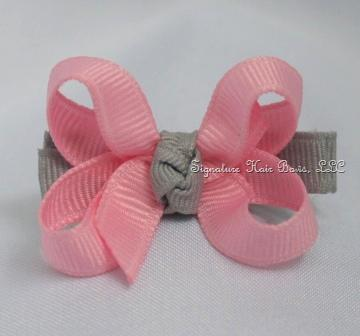 Pink Elephant Baby Bow