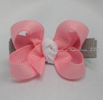 Tickle Me Pink Baby Bow