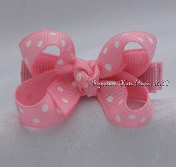 Pink Dots Baby Bow