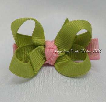 Pink Lemonade Baby Bow