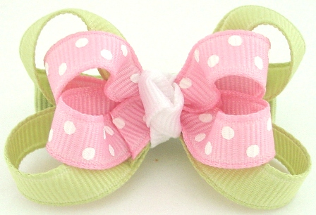 Pink Lemonade Layered Baby Grippy Hair Bow