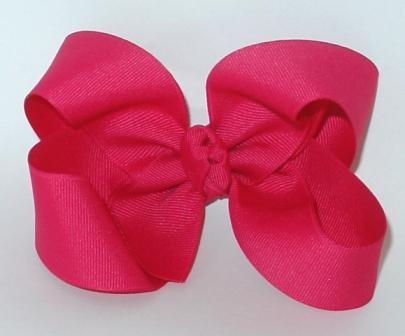 shocking pink hair bow