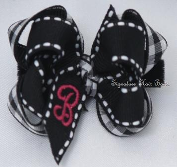 Signature Monogrammed Baby Hair Bow