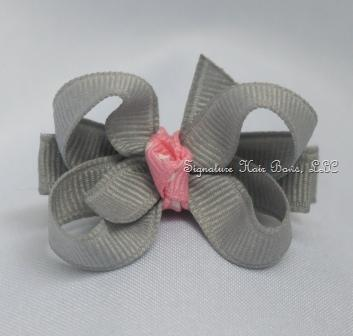 Sweet Silver Lining Baby Bow