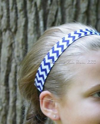 No-slip Sports Headband - Royal Chevron