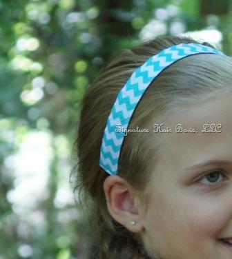 No-slip Sports Headband - Turquoise Glitter Chevron