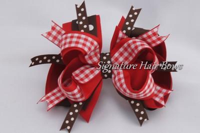 Super Hot Cocoa Hair Bow