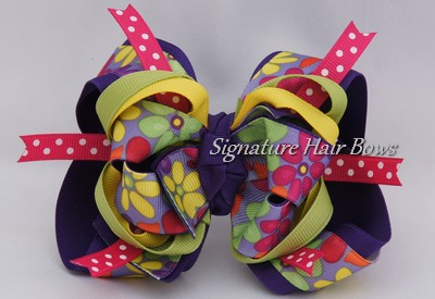 Super Spring Blooms Purple Bow