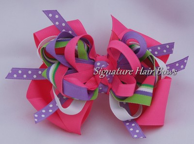 Super Tropical Pink Bow