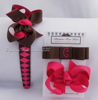 Raspberry Truffle Headband Set