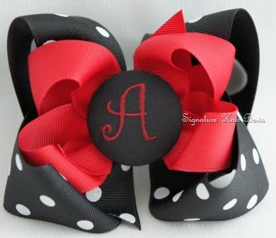 USC Monogrammed Button Bow