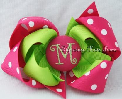 Monogrammed Signature Button Bows