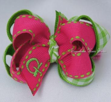 Watermelon Gingham Baby Hair Bow